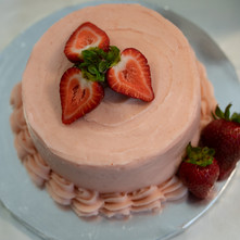 Strawberry Succulence Cake