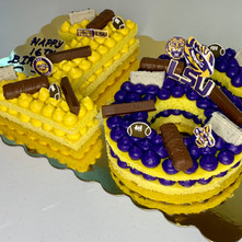 Number Cake (Lemon Citrus Smile) with a college football fan's birthday celebration
