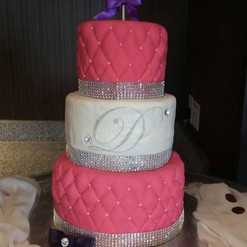 3-tier Sweet 16 Birthday Cake