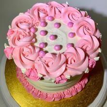"""The Gateway"" White Birthday Cake"