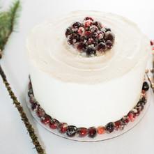 Sparkling White Cranberry cake