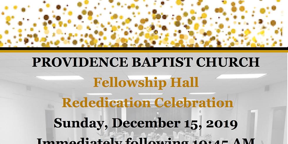 Fellowship Hall Rededication Celebration