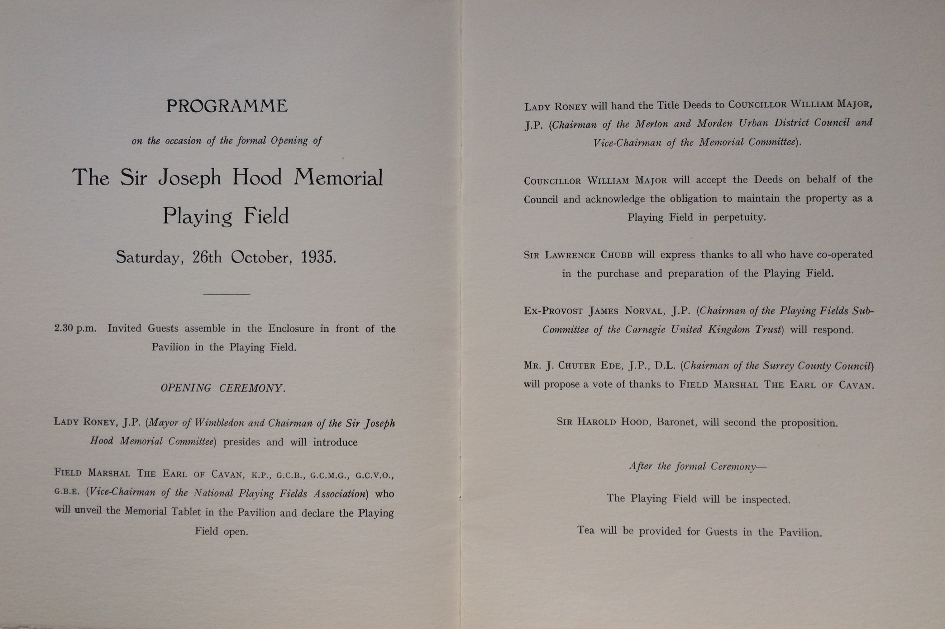 Opening Programme 1