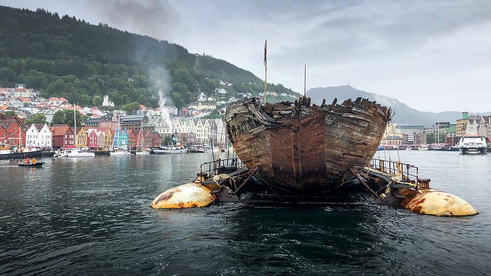 Maud besøkte Bergen på sin ferd mot Asker