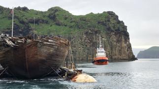 Maud er ankommet Island