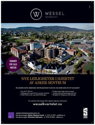 Wesselkvartalet                                       -60% solgt, byggestart i februar 2018!