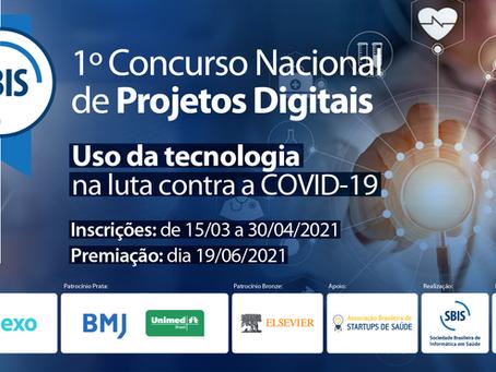 1º Concurso Nacional de Projetos Digitais: Uso da tecnologia na Luta contra a COVID-19 - SBIS