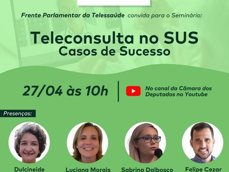 Teleconsulta no SUS é tema de seminário da Frente da Telessaúde