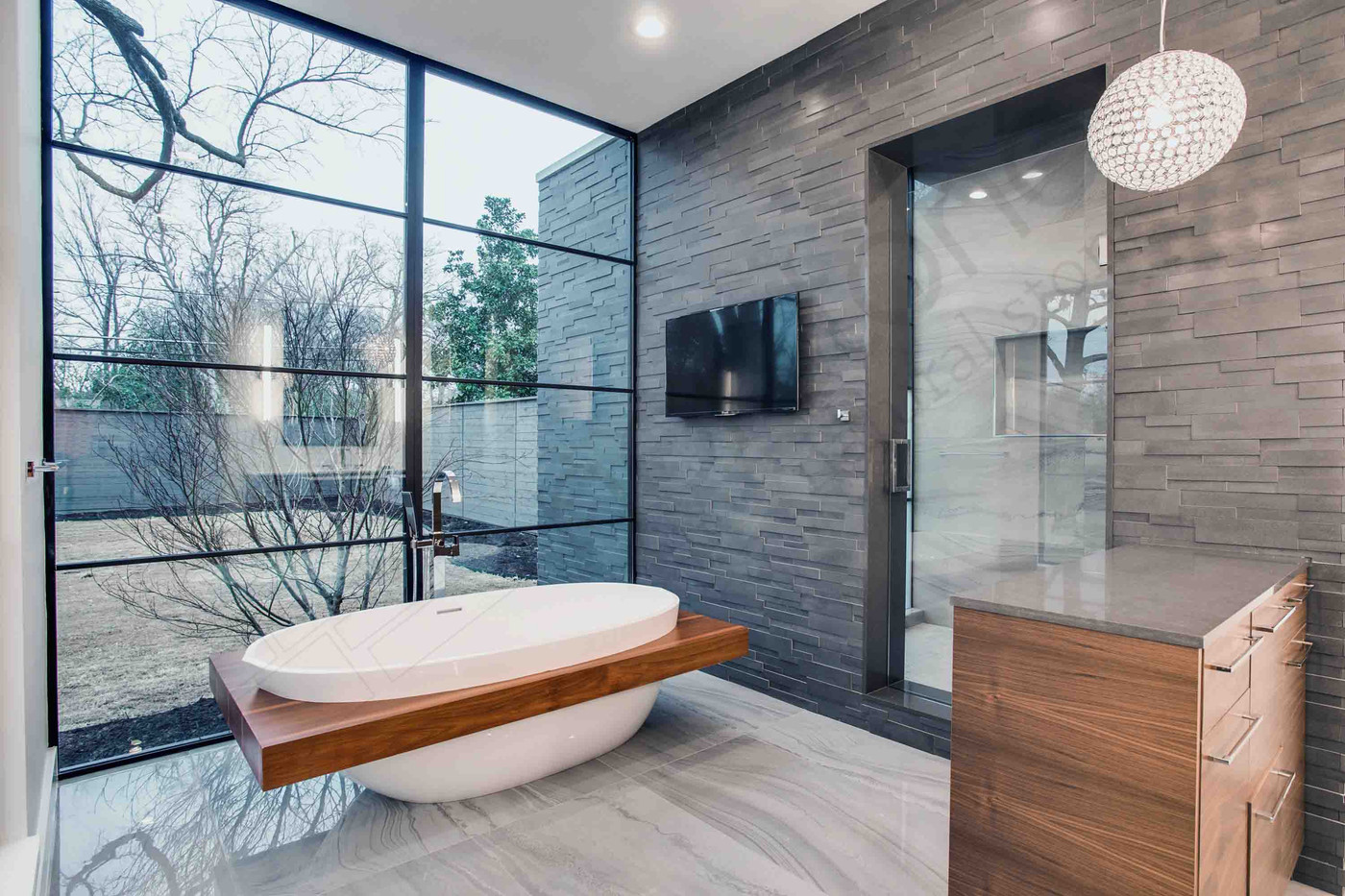 Koupelna Norstone AKsent 3D Grey Basalt.