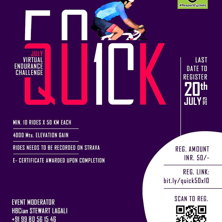 Quick 10 - 50 KM Endurance Virtual Challenge