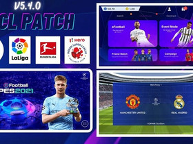 Uefa Champions League Patch for Pes Mobile (v5.4.0) by Snow Broken