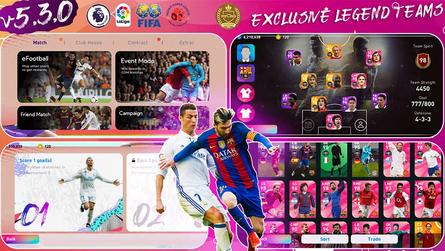 Messi x Ronaldo Platinum OBB Patch   PES 2021 Mobile   Licensed Teams   Exclusive Legend Teams