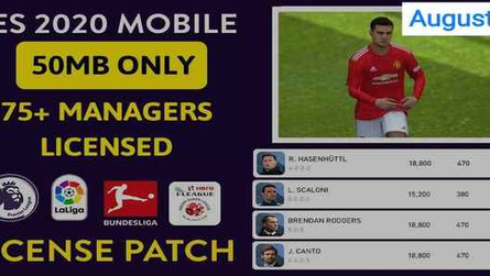 [Aug 27]Pes 2020 Mobile License Patch by Snow Broken