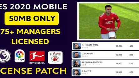 Pes 2020 Mobile License Patch - Full Licensed,75+ Manager Faces,ISL Teams,Bundesliga,Long Sleeve Kit