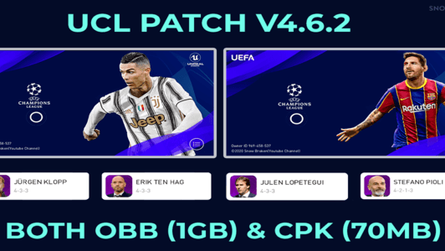UCL CPK Patch for Pes 2020 Mobile by Snow Broken
