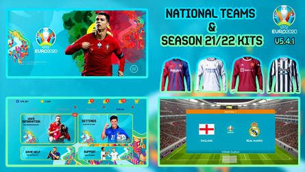 Euro 2020 Patch for Pes 2021 Mobile (v5.4.1) by Snow Broken   National Team Kits  & New 2021/22 Kits