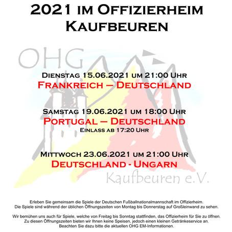 EM 2021 in der OHG auf Großleinwand