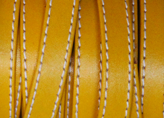 STICHED FOLDED STRIP Yellow