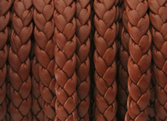 FLAT BRAIDED CORD Medium Brown