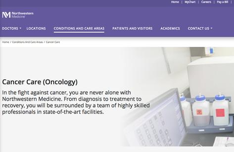 Northwestern Medicine - Web Content Writing/Editing