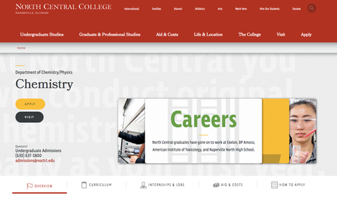 North Central College - Web Content Writing, QA Testing