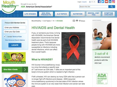 American Dental Association - Web Content Writing