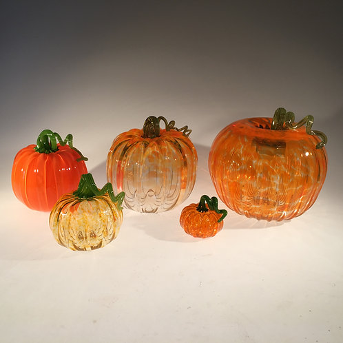"Jumbo (9""-10"") Glass Pumpkin"