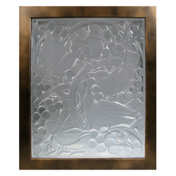 Custom Cast Glass Panel