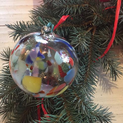 Multi-Color Confetti Ornament