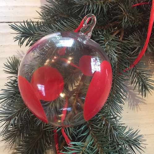 Red Dots Ornament