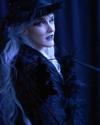 """The Black Fairy"" costume, hair/MUA and"