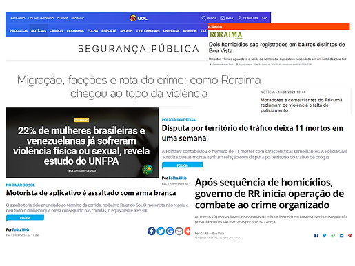 Os recentes rastros da criminalidade em Roraima