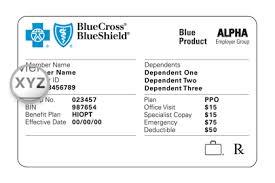 Blue Cross Blue Shield Insurance Card