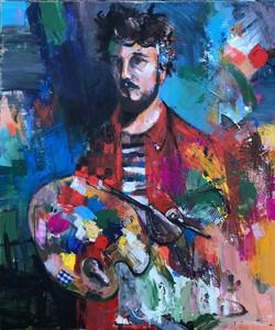 Jonsy Gáll - Autoportrét s paletou
