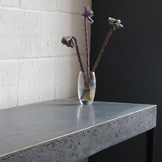 Concrete custom made side bar, Side table, steel and concrete