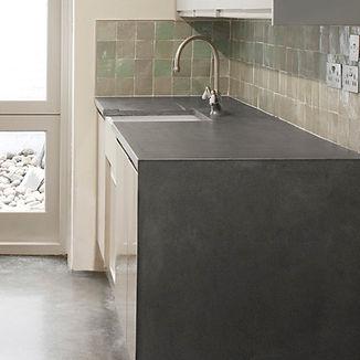 Concrete worktops kitchen, GFRC, polished concrete