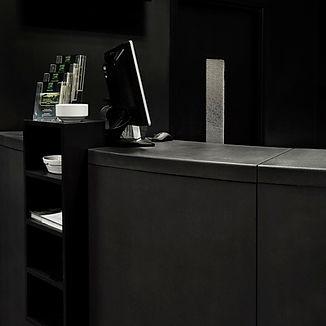 Concrete curve desk, GFRC
