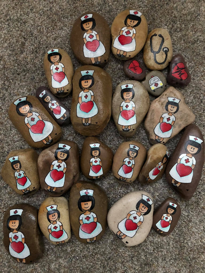 A big thank you to ALL of our nurses. Kindness Rocks by Sue Bowers