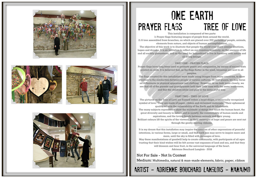 One Earth - Prayer Flags / Tree of Love Art Installation for the Works of HeART Show