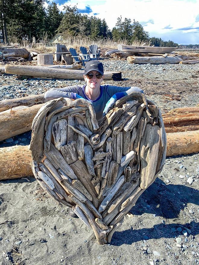 Driftwood HeART - Created by Kim Windle & Her Husband