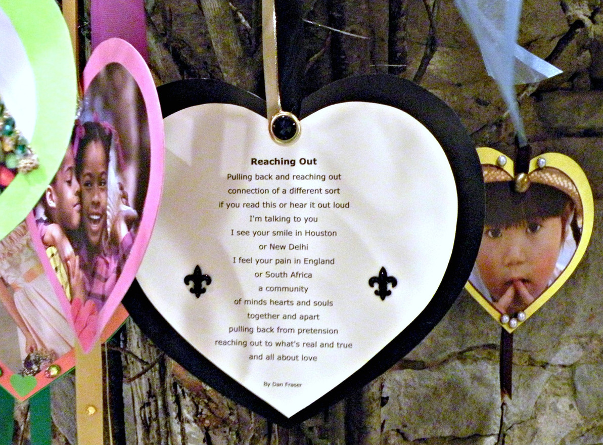Poem by Dan Fraser - HeARTs created by Adrienne Bouchard Langlois