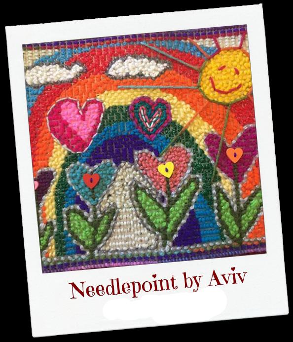 Needlepoint HeARTs by Aviv Dekel