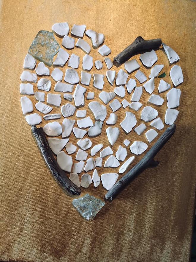 Shell & Driftwood HeART - created by Carolin Ann @ JC Art and Photos
