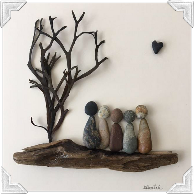 The Heart Never Knows the Colour of the Skin Collection- Pebble Art