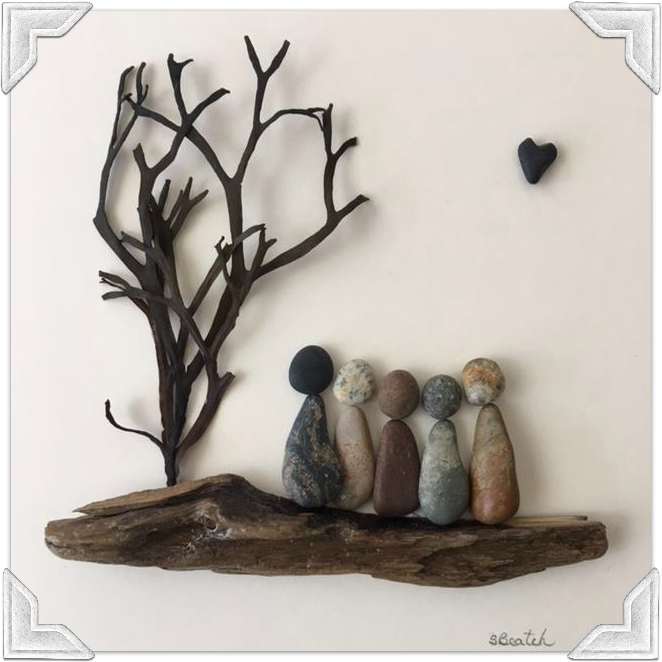 Pebble Art HeART by Sharon Beatch
