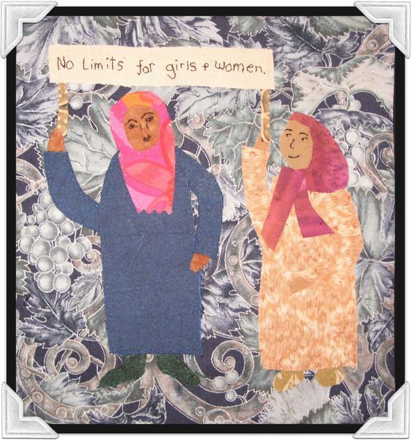 No Limits For Girls & Women - Fabric Art