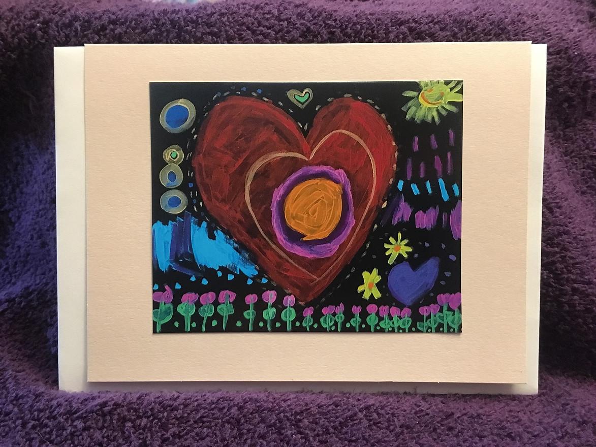 Spiral Love Heart in Acrylic by Aviv Dekel