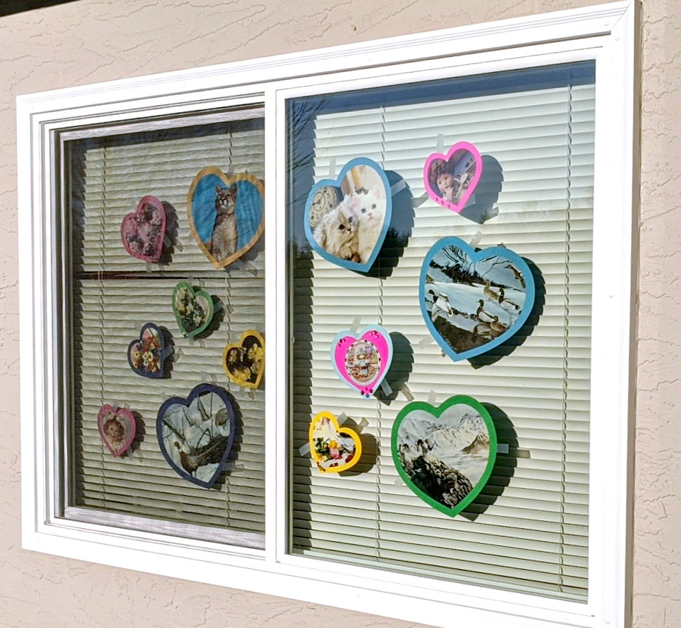 Window HeARTs by Adrienne Bouchard Langlois