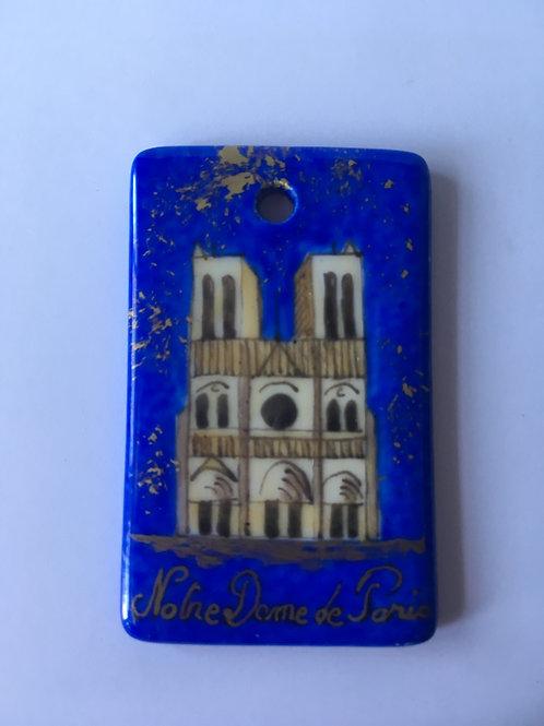Pendentif rectangulaire Notre-Dame de nuit