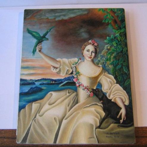 Tableau de la femme à la perruche